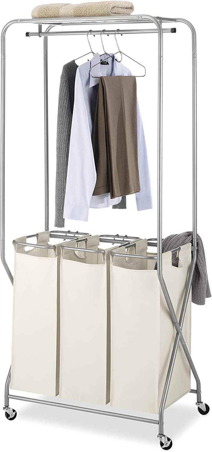Whitmor Laundry Center, Triple SORTER, Tan