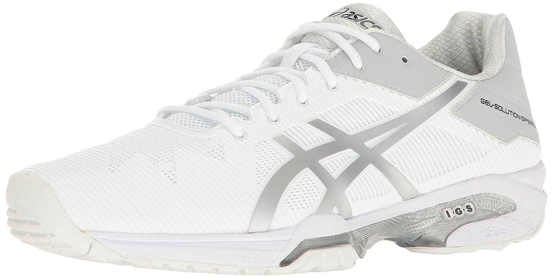 ASICS Men's Gel-Solution Speed 3 Tennis Shoe B01H31WDYO 8.5 D(M) US|White/Silver