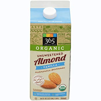 365 Everyday Value Unsweetened Vanilla Almond Milk