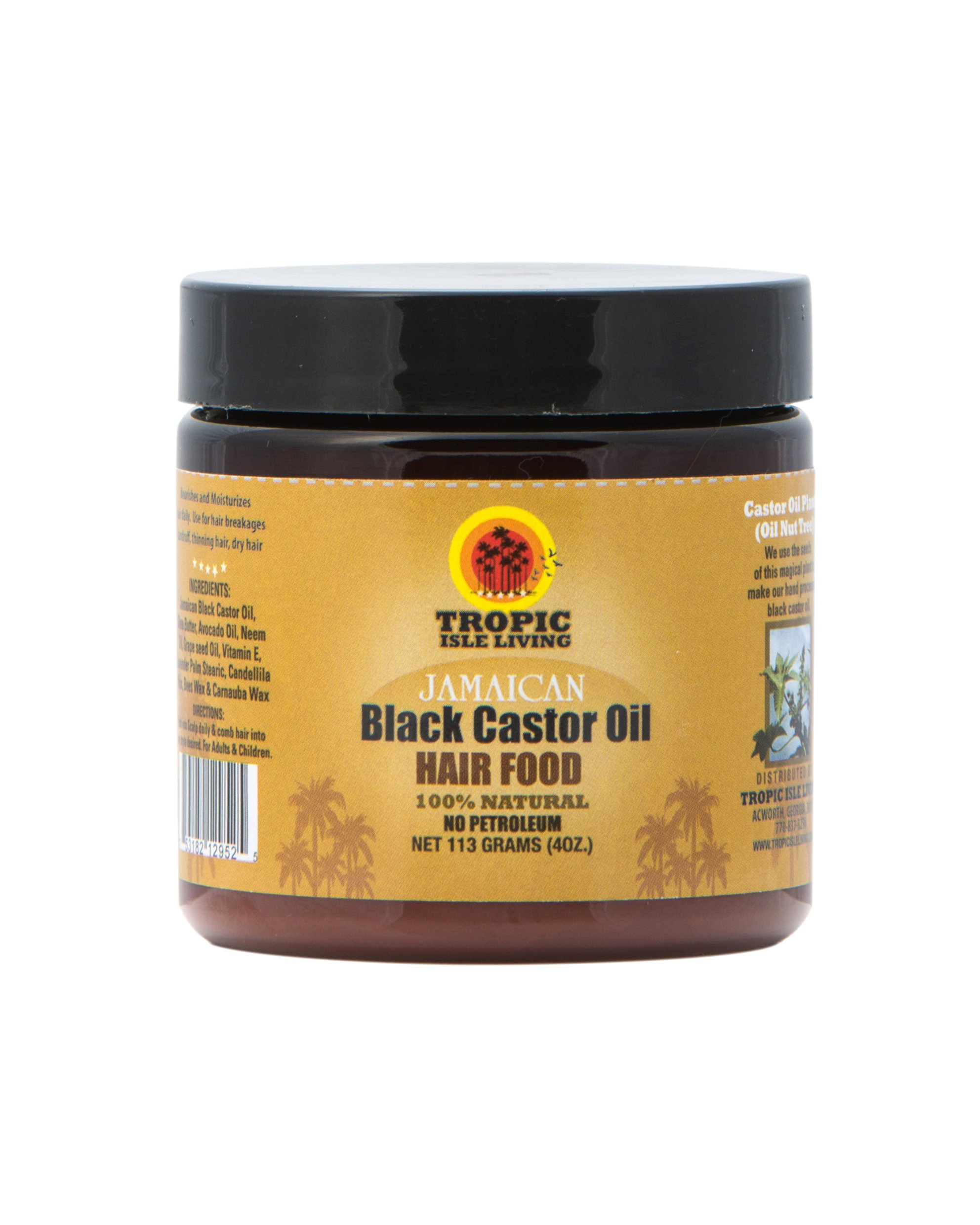 Tropic Isle Living- Jamaican Black Castor Oil Hair Food-4oz