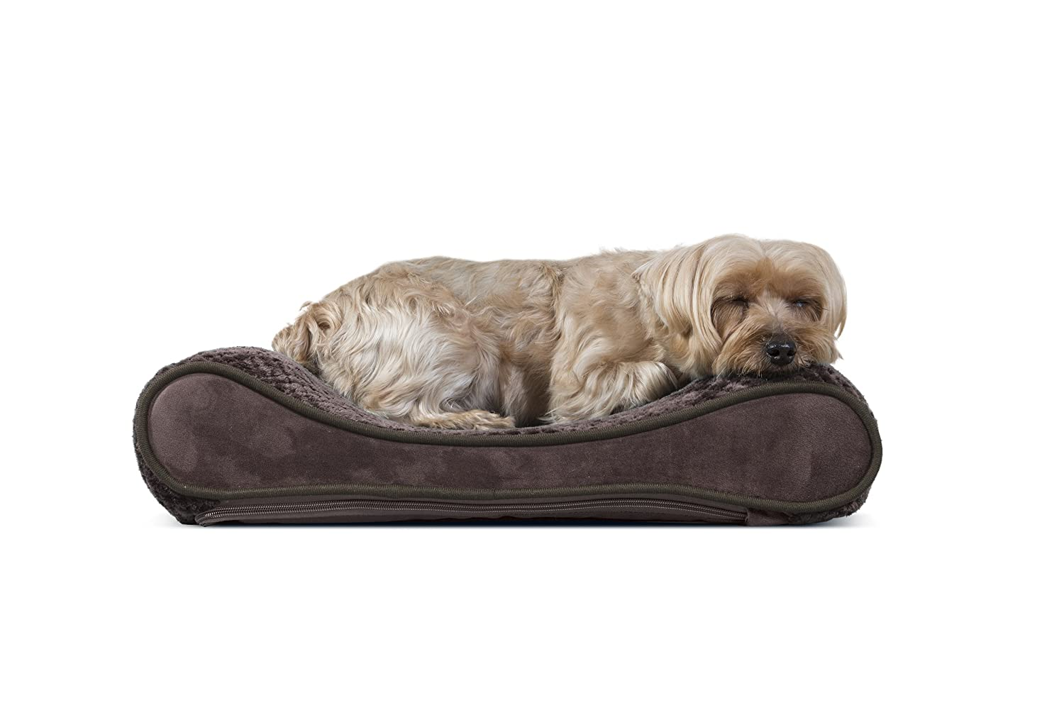 FurHaven Pet Dog Bed | Orthopedic Microvelvet Luxe Lounger Pet Bed Dogs & Cats, Gray, Jumbo Furhaven Pet Products 31539397