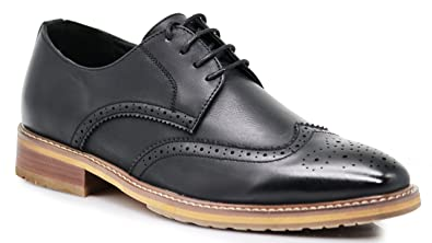 Amazon.com: gnv2 para hombre wingtips Oxfords perforado ...