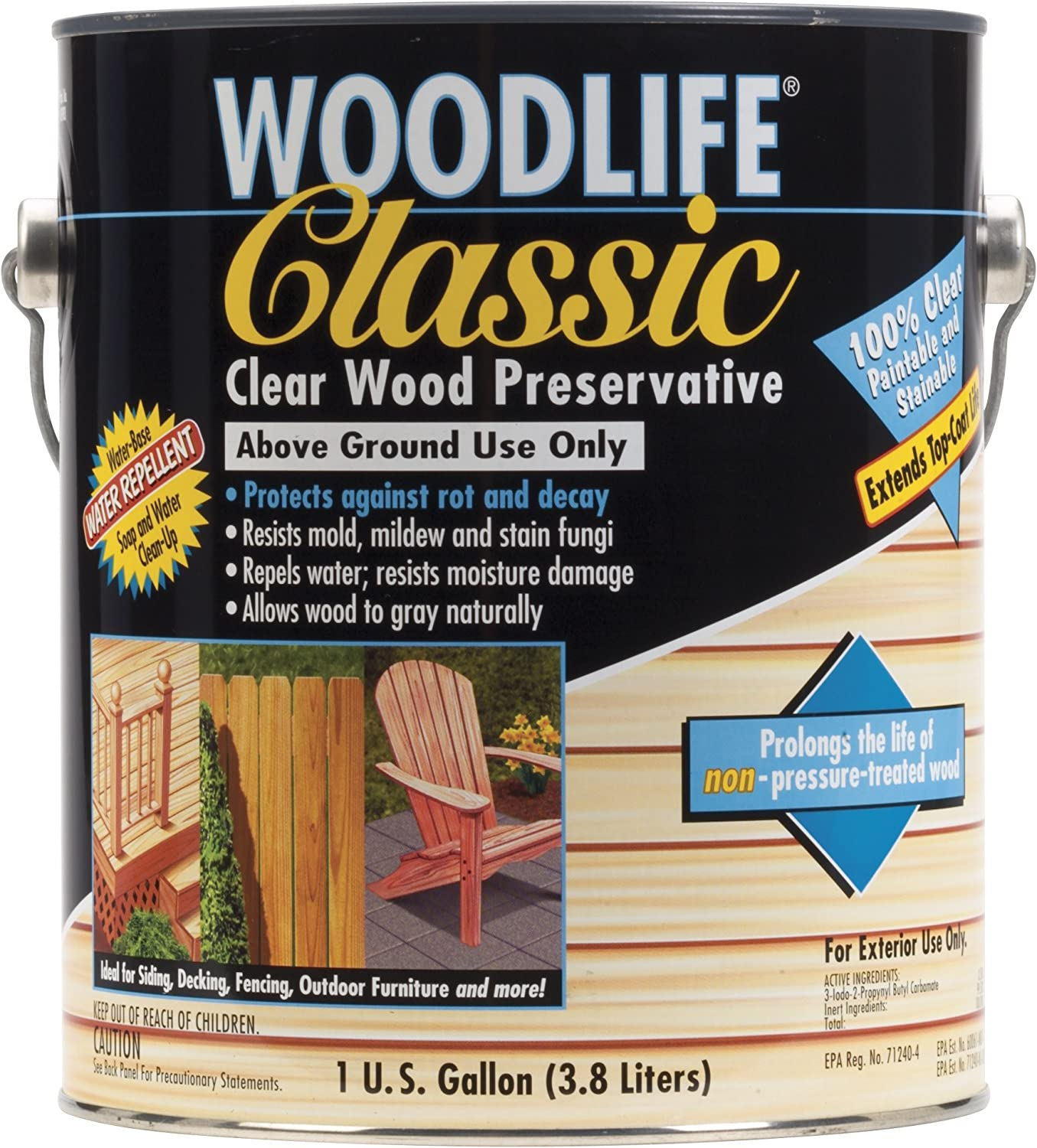 Wood preservative for water-lt.0 750-2,5-5 colourful with Wall Endcap