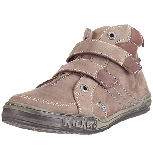 nouveau style et luxe paquet à la mode et attrayant Beau design Kickers Jules, Chaussures montantes Garçon - Gris, 28 EU ...