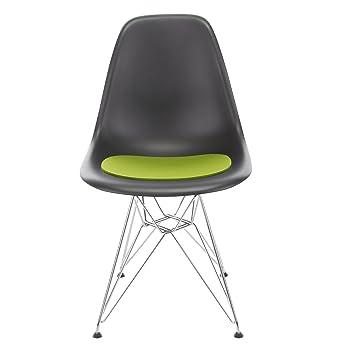 Hey Sign Sitzauflage Eames Sidechair Antirutsch, Maigrün Filz