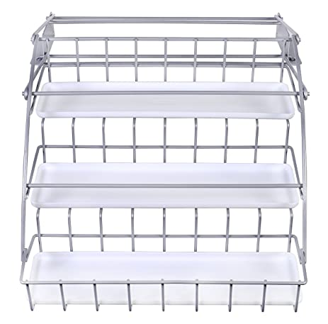 Amazon.com: Rubbermaid Pull Down White Spice Rack and Satin Nickel ...