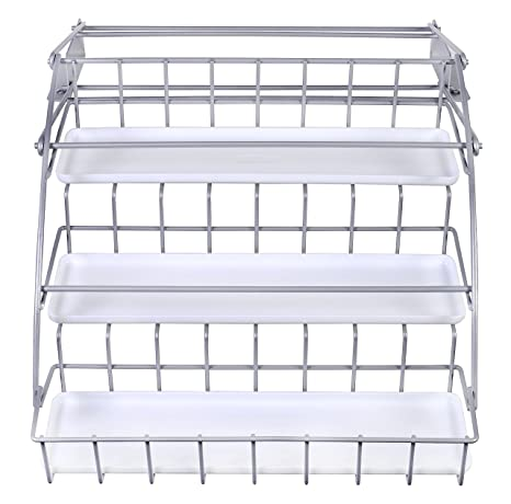 Amazon Com Rubbermaid Pull Down Spice Rack Clear 1951590 Kitchen