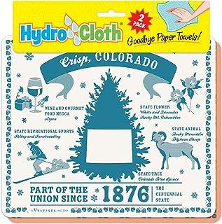 "product image for Fiddler's Elbow Crisp, Colorado"" Hydro Cloth | Eco-Friendly Sponge Cloths | Reusable Swedish Dish Cloths | Set of 2 Printed Sponge Cloths| Kitchen, Bath, auto | Replaces 30 Rolls of Paper Towels"