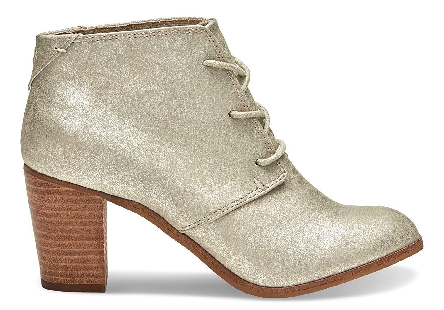 e7b1f60ad TOMS Women's Lunata Lace-Up Booties (10.0 B(M) US Womens, White Gold  Metallic Synthetic Leather): Amazon.ca: Shoes & Handbags
