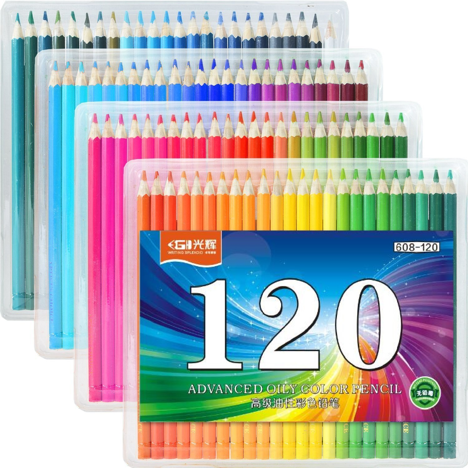 70%OFF FIVE STAR 120-Colored Pencils Set For Sketch Coloring Pages ...