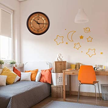 Buy Virom Designer Round Shape Wall Clock For Bedroomhall
