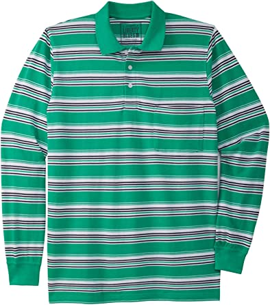 Liberty Blues Men's Big & Tall Long-Sleeve Polo Shirt