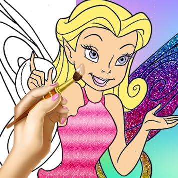 Amazon Com Fairy Princess Coloring Pages Color Draw Princess