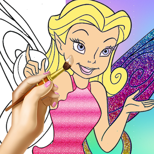Fairy Princess Coloring Pages - Color & Draw - Princess Fairy Coloring Book - Free Coloring Book for Adults - Best Coloring Apps & Games For Free - Princess Coloring Book for kids, coloring game for girls