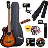 Yamaha APXT2EW Exotic Wood 3/4 Size Thinline Acoustic-Electric Cutaway Guitar with Legacy Accessory Bundle, Many Choices