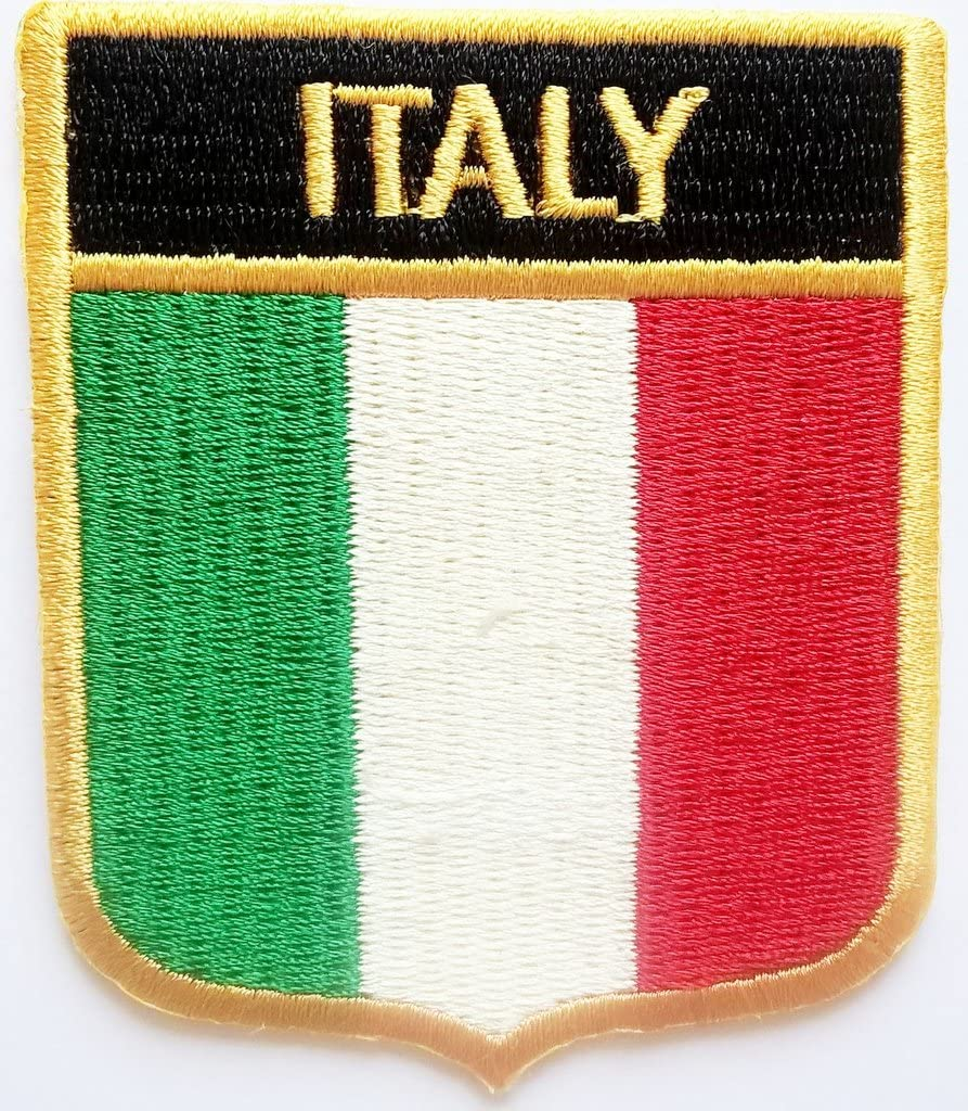 b2see Fahnen Flagge Aufn/äher Aufb/ügler Applikation f/ür Jacken Jeans Kleidung Aufb/ügler zum Aufb/ügeln Italien 8 x 6 cm