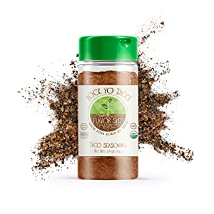 FLAVOR SEED - Rock Yo' Taco Organic Taco Seasoning Mix Bulk Keto, Paleo, Whole 30 approved, Non-GMO, Gluten Free, No Fillers Better than McCormick, Taco Bell, and Old El Paso Dip