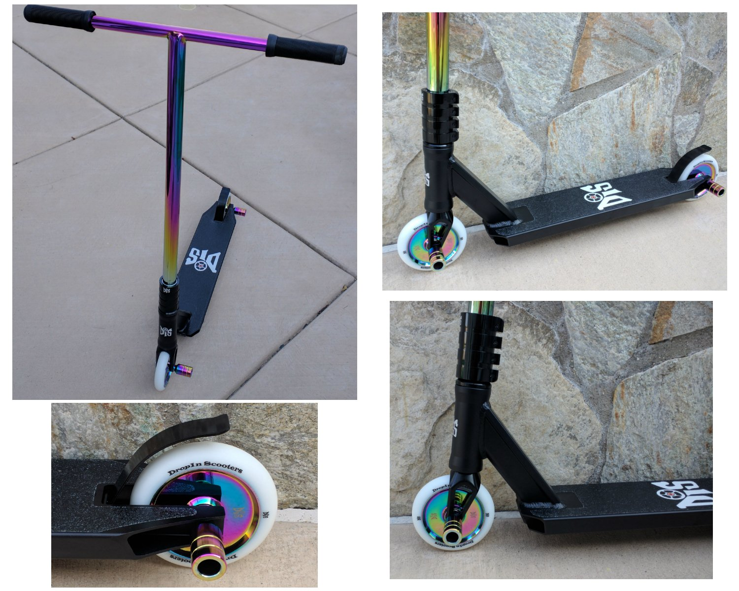 DIS Slick Blackout Custom Pro Complete Scooter Professionally Assembled