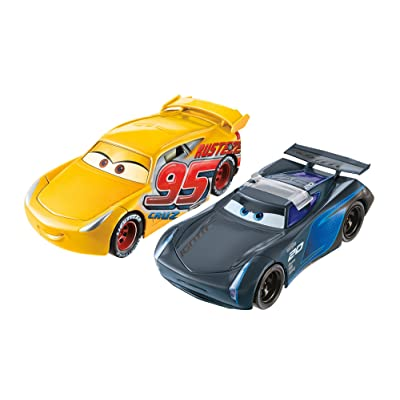 Disney Pixar Cars 3: Flip to The Finish Rust-eze Cruz Ramirez & Jackson Storm Vehicles: Toys & Games