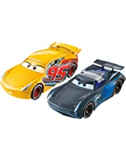 Disney Cars Pixar Cars 3 Flip to the Finish Rust-eze Cruz Ramirez & Jackson Storm Vehicle,2-Pack