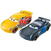 Disney Cars Disney/Pixar Cars 3 Flip to The Finish Rust-eze Cruz Ramirez & Jackson Storm Vehicle,2-Pack