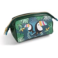 NICI 45177 Cosmetic Pouch Toucan 18x12x9cm cm Faux Leather, Green/Multi-Coloured