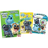 Bundle of 3 Puppy Dog Pals Coloring & Activity Items - Imagine Ink Magic Pictures Activity Book, Coloring and Activity Book with Stickers, and Grab & Go Play Pack