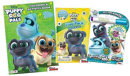 Amazon Com Bundle Of 3 Puppy Dog Pals Coloring Activity Items