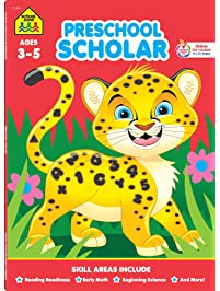 School Zone - Preschool Scholar Workbook - 64 Pages, Ages 3 to 5, Preschool to Kindergarten, Reading Readiness, Early...