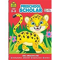 School Zone - Preschool Scholar Workbook - 64 Pages, Ages 3 to 5, Preschool to Kindergarten...