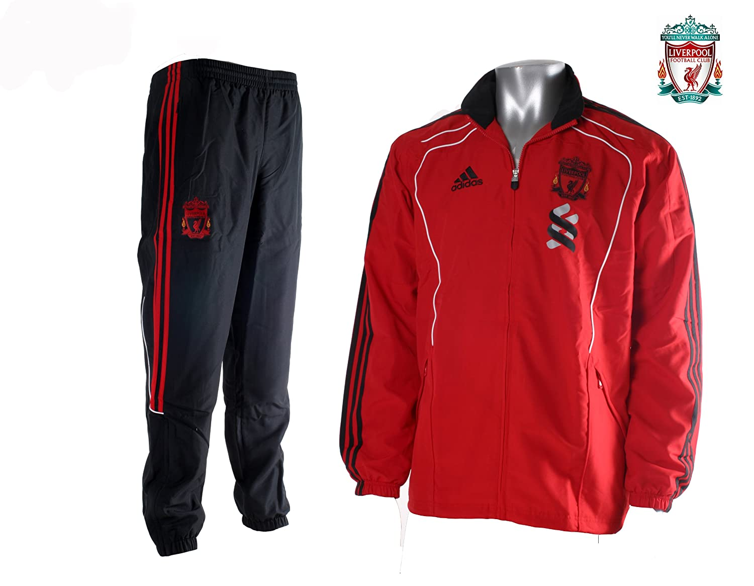 d2924d1f246f ADIDAS LIVERPOOL TRACKSUIT ADULTS NEW PRESENTATION SUIT SIZE LARGE   Amazon.co.uk  Clothing
