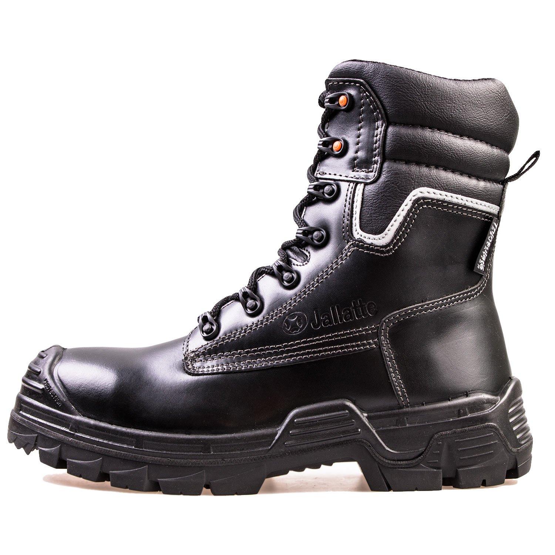 Zehenschutz k/älteisoliert Jallatte/® Herren Sicherheitsstiefel SB P LOG290 Schwarz wasserabweisend klappbare Spikes durchtrittsicher