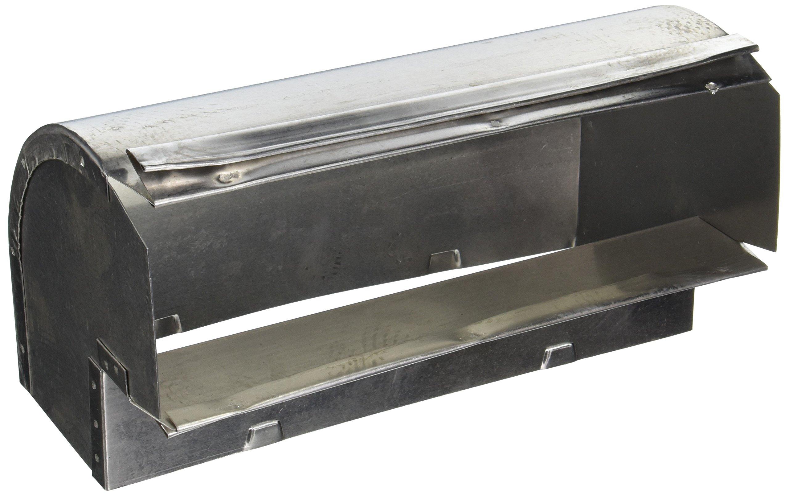 102IND 3-1/4'' x 10'' Aluminum Duct Elbow