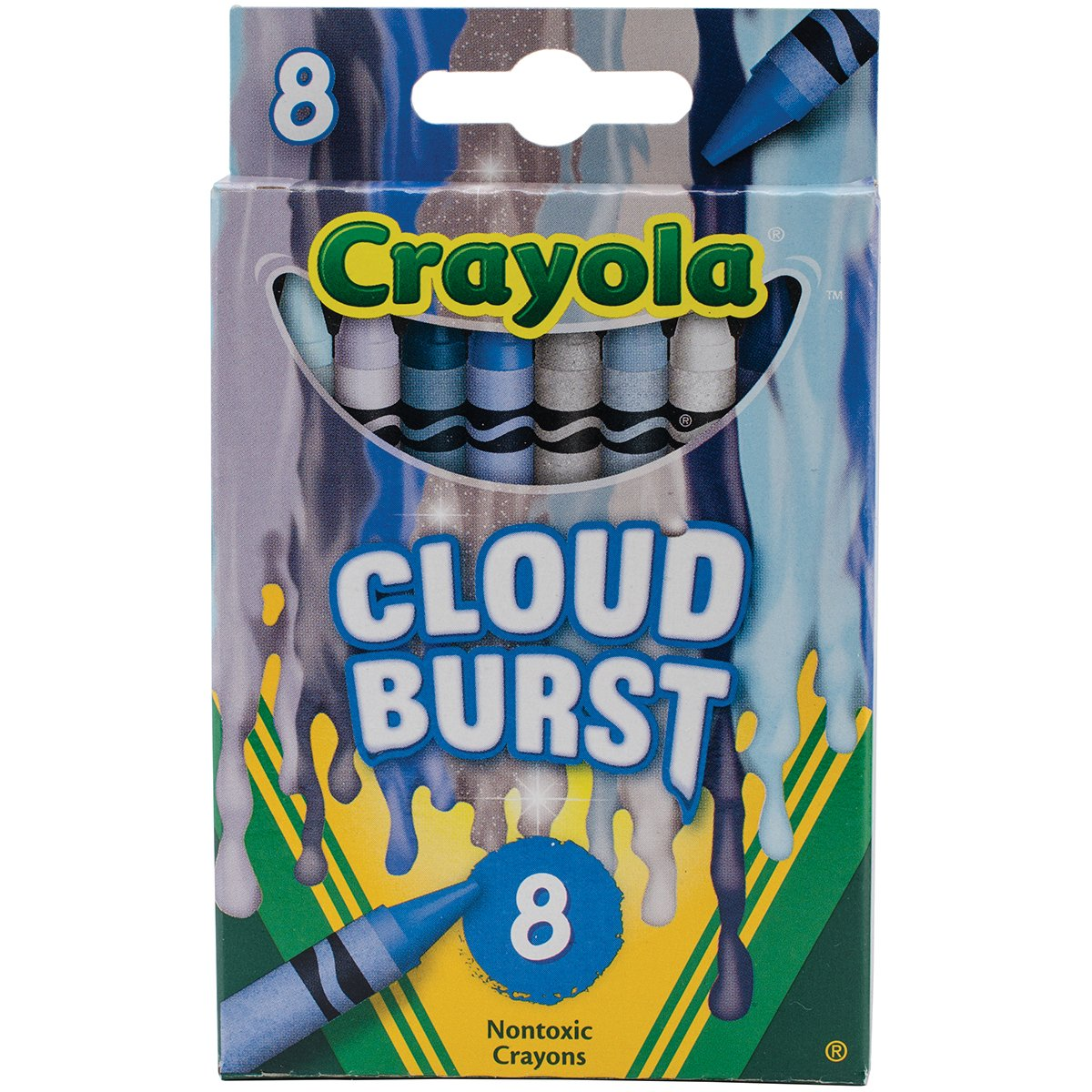 Crayola Meltdown Crayons 8/pkg, Cloud Burst