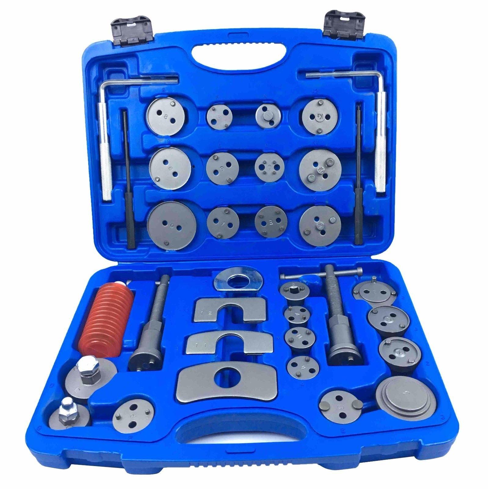 Brake Disc Caliper Wind Back Tool Kit - 35 Piece Universal Piston Rewind Set - Discs Break Pad Caliper Compressor Service Tools - by Jecr (Image #9)