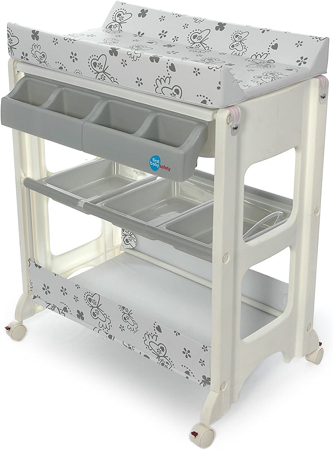 Table A Langer Avec Baignoire Papillon Gris First Baby Safety Amazon Fr Bebes Puericulture