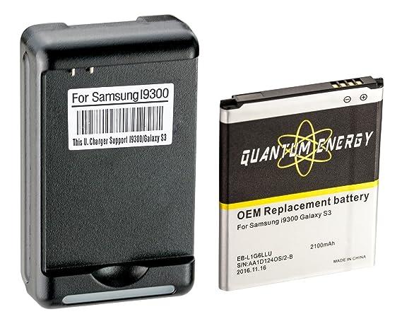 Amazon.com: Batería QUANTUM ENERGY para Samsung Galaxy S3 ...
