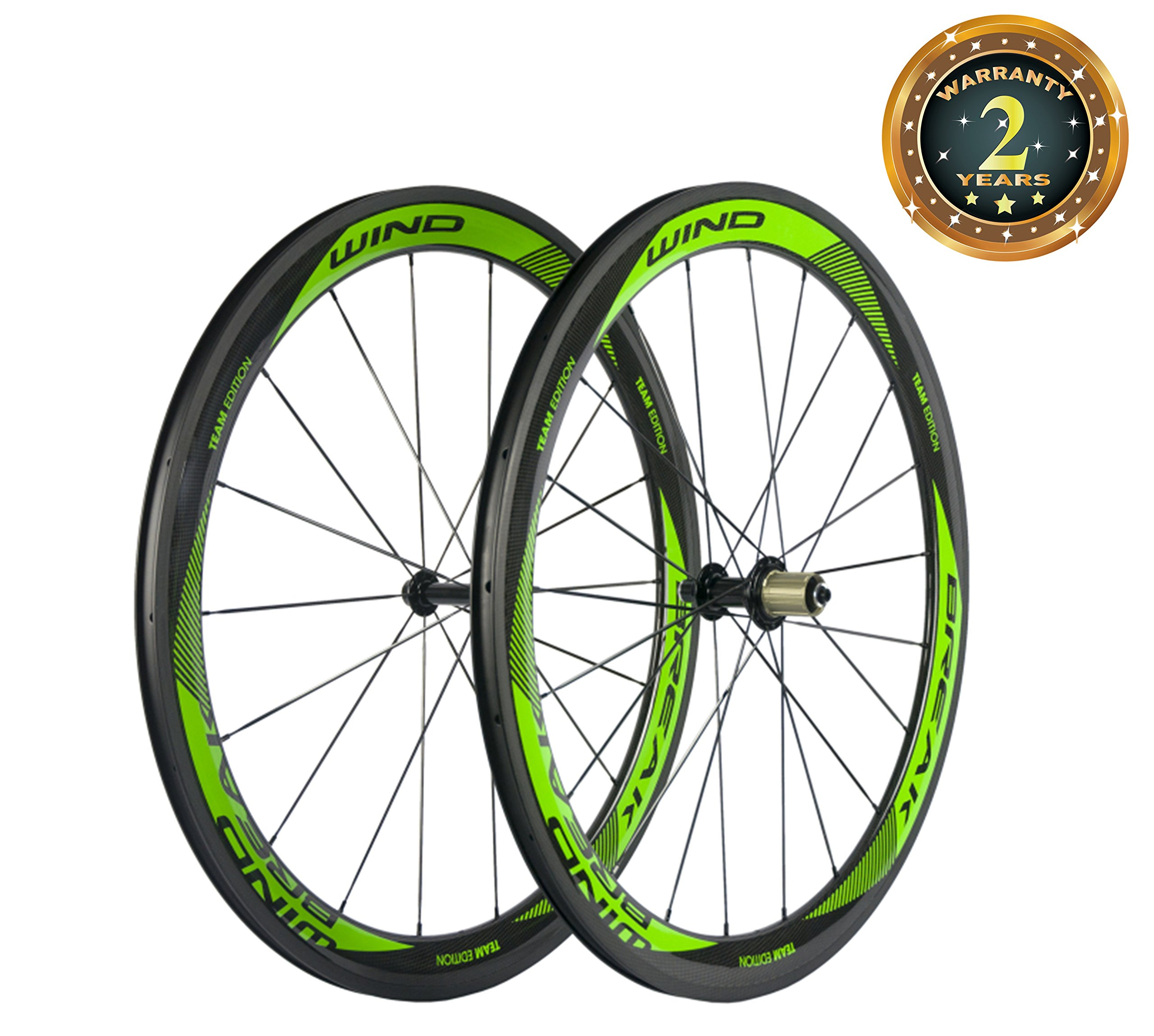 Sunrise Bike Carbon Fiber Road Wheelset Clincher Wheels 50mm Depth R13 Hub Decal Bicycle Rims by SunRise (Image #1)
