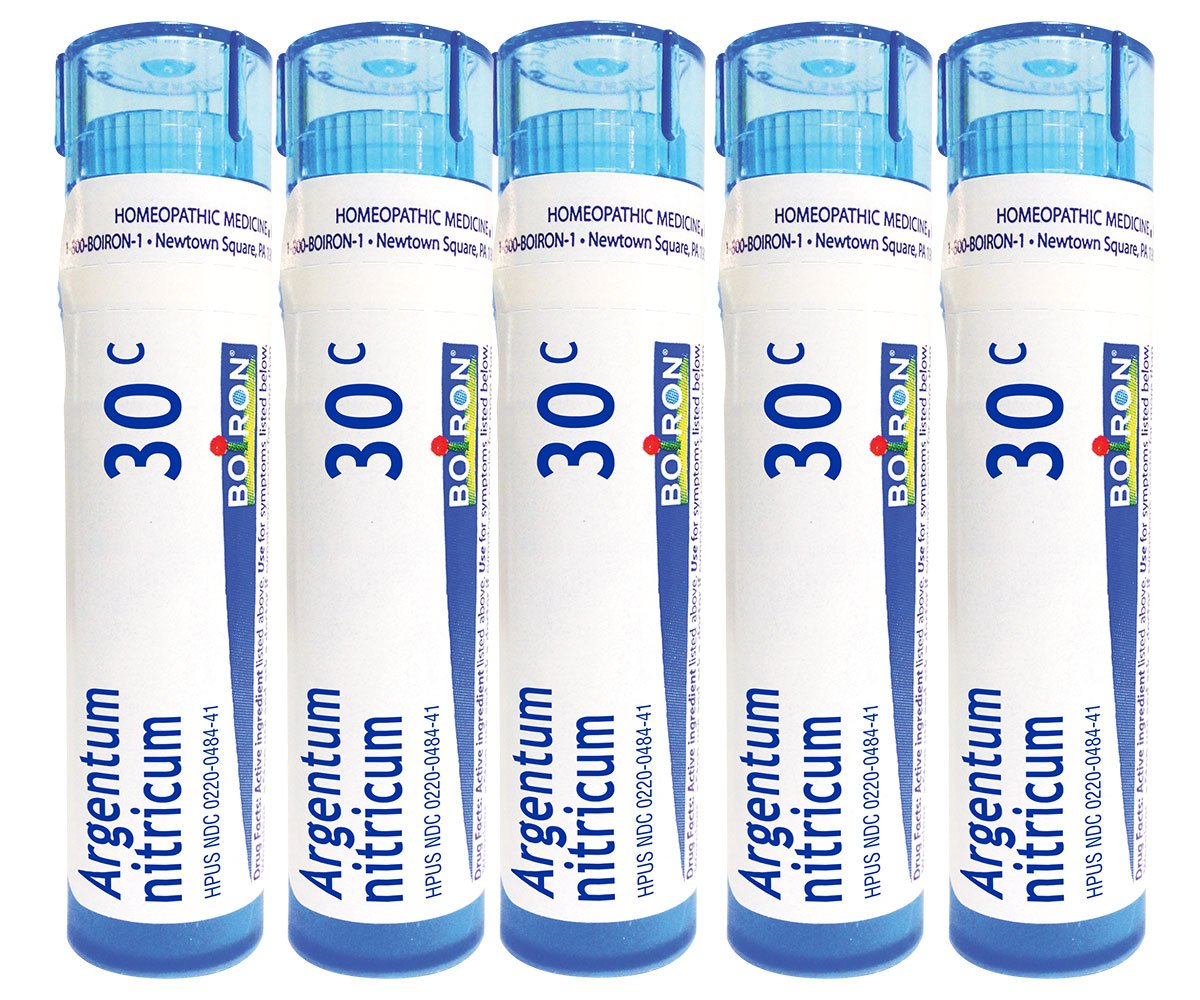 Boiron Argentum Nitricum 30C (Pack of 5), Homeopathic Medicine Apprehension and Stage Fright