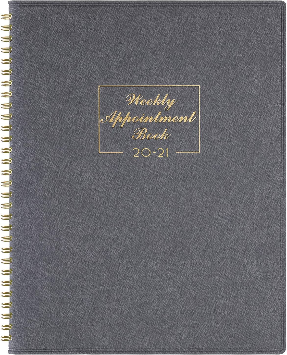 """2020-2021 Weekly Appointment Book & Planner - 2020-2021 Daily Hourly Planner 8.4"""" x 10.6"""", July 2020 - June 2021, 15-Minute Interval, Flexible Soft Cover, Twin-Wire Binding, Perfect for Your Life"""