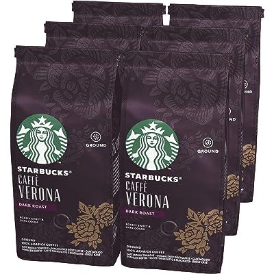 STARBUCKS CAFFÈ VERONA Café molido de tostado intenso, 6 x bolsa de 200g