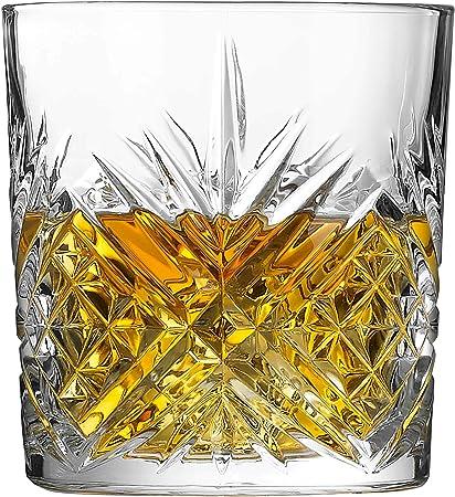 Arcoroc ARC L7254 Broadway - Vaso de whisky (300 ml, cristal, 6 unidades), transparente