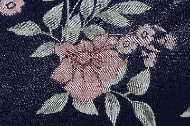 BellisMira Camicia da Notte Donna in Raso Serico con Pantaloncini Piagiameria e Rope Profondo V Collare Floreale