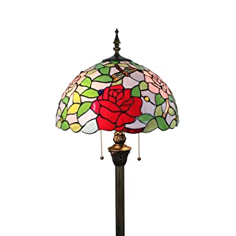 SINCERE@ Tiffany 16 Pulgadas Pastoral Estilo Vitral Rose ...