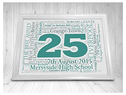 LoveThis Personalised 1st 18th 21st 30th 40th 50th Any Age Word