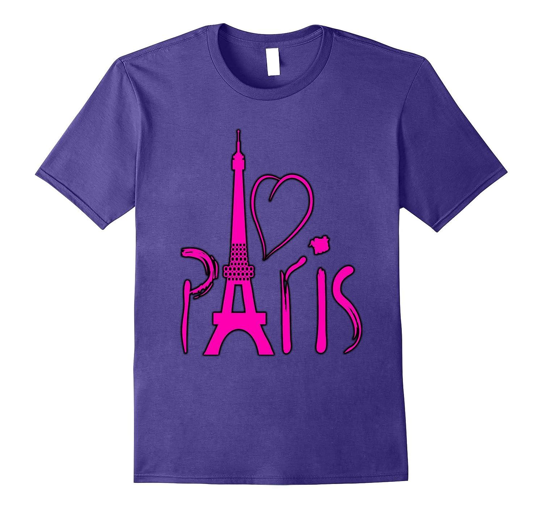 I Love Paris Eiffel Tower Souvenir T-shirt-PL
