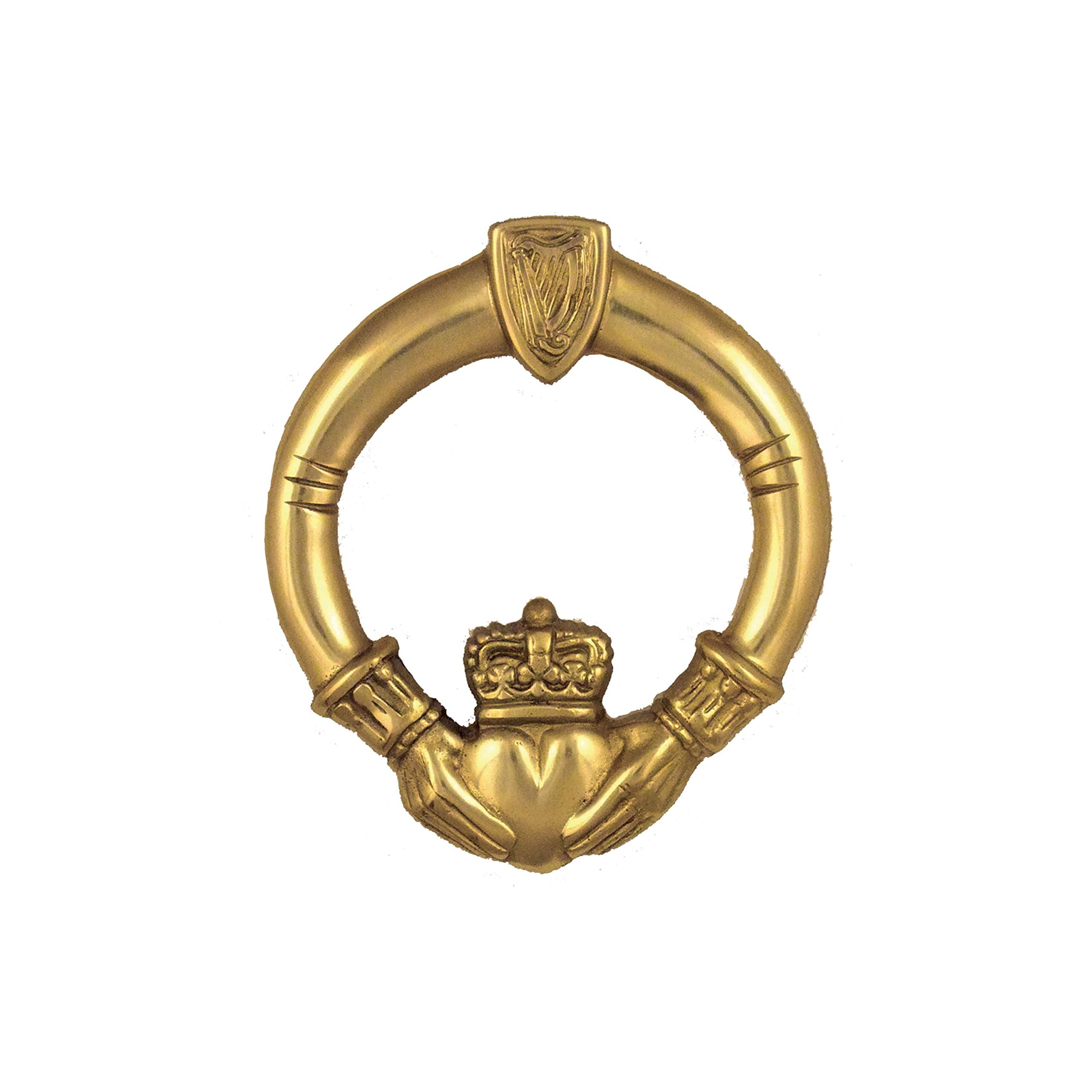 Claddagh Door Knocker - Brass (Premium Size)