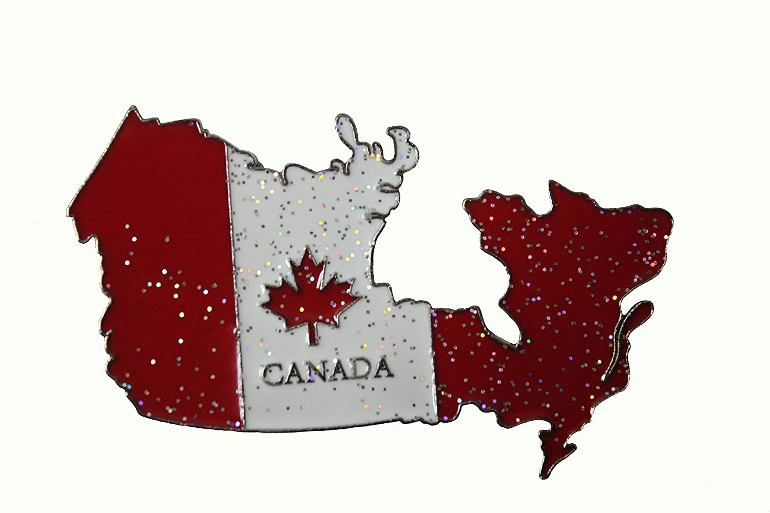 """CANADA Flag Country Shape Metal Fridge Magnet .. Size : 3.25"""" x 1.75"""" Inch ..Great Quality .. New"""