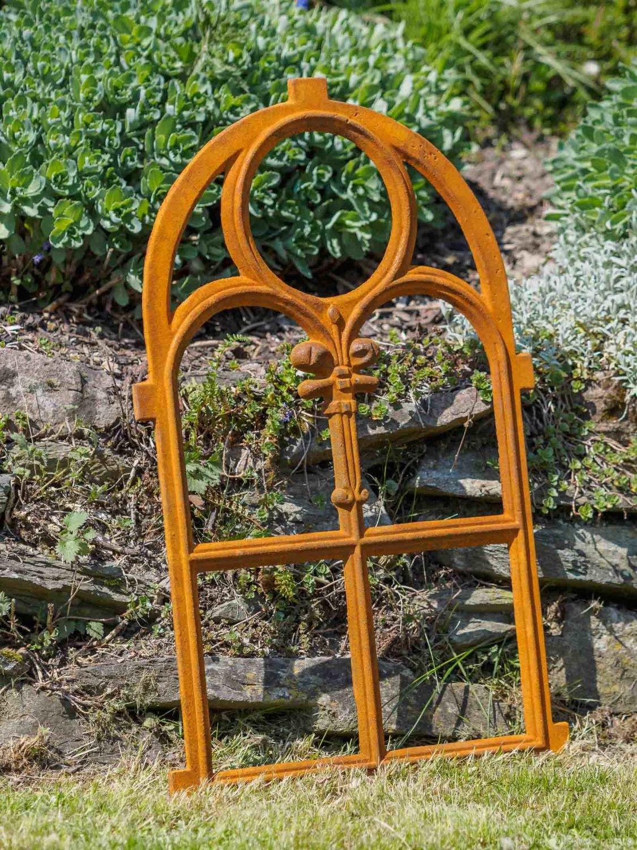 Nostalgie Stallfenster 46 x 74cm Fenster Gusseisen Rahmen rostig ...