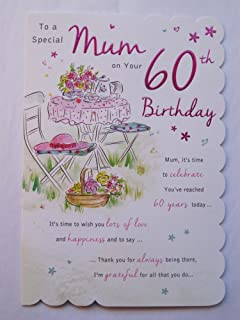 STUNNING TOP RANGE BEAUTIFULLY WORDED MUM SIXTY 60TH BIRTHDAY GREETING CARD